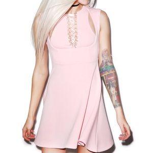 NWT Current Mood Cinch Dress Pink Dolls Kill XS